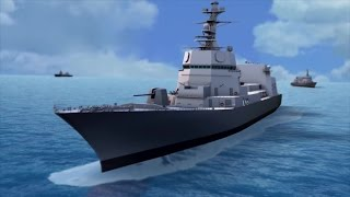 NCSIST - Guided Missile Destroyer Concept Combat Simulation [1080p]