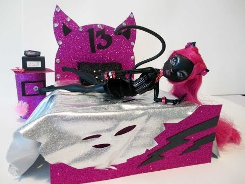 How to make a Catty Noir Doll Bed Tutorial/Monster High