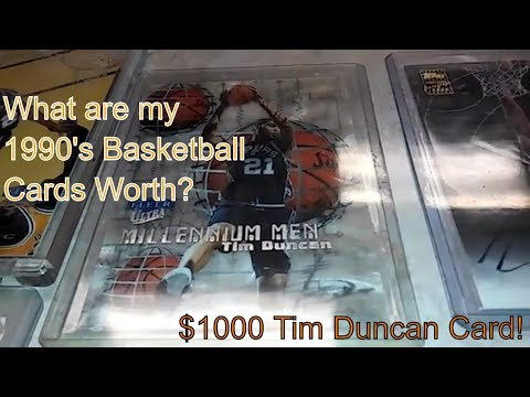 What are my BASKETBALL cards worth? 1990's Basketball Inserts Parallels Tim Duncan vol 1