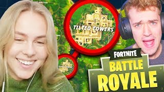 GIRLFRIEND CHOOSES WHERE WE LAND!! - Fortnite: Battle Royale