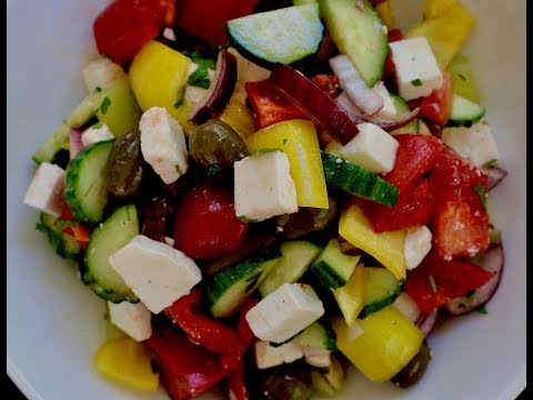 How to Make Greek Salad at Home!