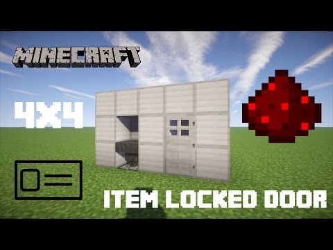 How To Build A Redstone Key Card Reading Door | Minecraft