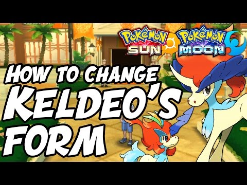 How to Change Keldeo's Form in Pokémon Sun and Moon - How to Get Keldeo Resolute Form