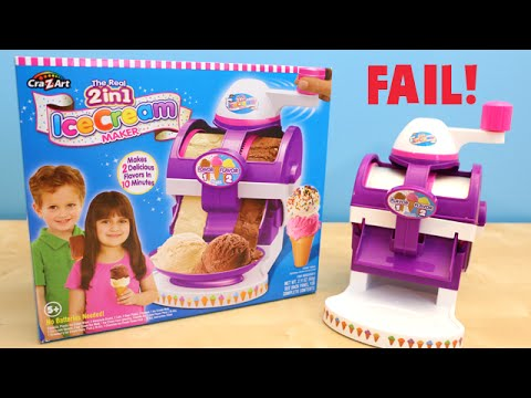 The Real 2 in 1 Ice Cream Maker Cra-Z-Art FAIL Toy Review