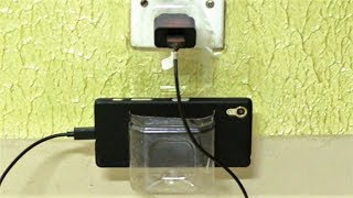 How to Make Phone Charger Stand Using Waste Plastic Bottle!