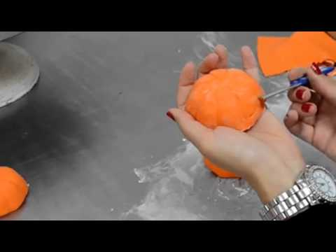 How to make cake Making pumpkins out of Sugar tutorial video