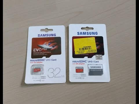 How to identify Fake Samsung Evo Plus 32 GB Micro SD card easily