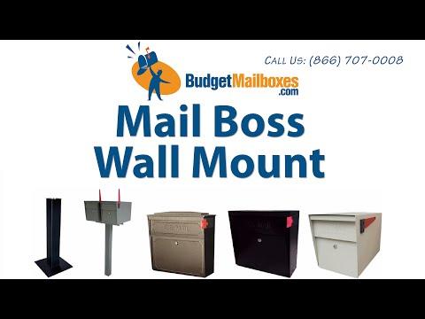 BudgetMailboxes.com | Mail Boss Wall Mount Locking Mailbox