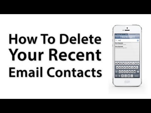 [iOS Advice] How To Remove Your Recent Email Contacts