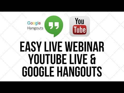 An Easy Way To Host A Live Webinar Using Youtube Live And Google Hangouts