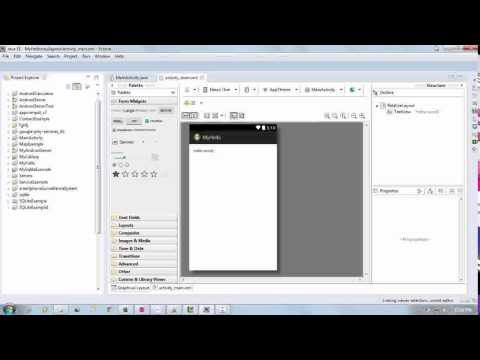how to create first android application using Eclipse