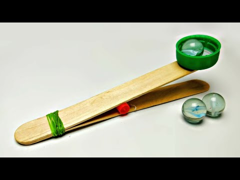How To Make A Simple Catapult For Kids || Easy Popsicle Stick Catapult || Kids Toy Weapon