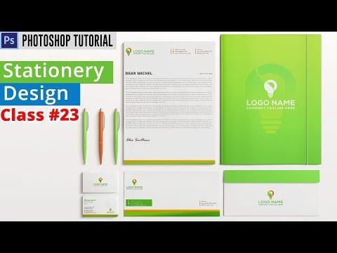 Stationary Design in Photoshop | Photoshop Bangla Tutorial | Class #23
