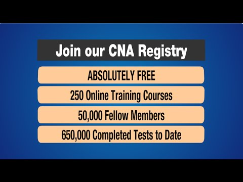 Join our CNA Training Registry