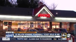 1 Million Winning Powerball Ticket Sold In Maryland