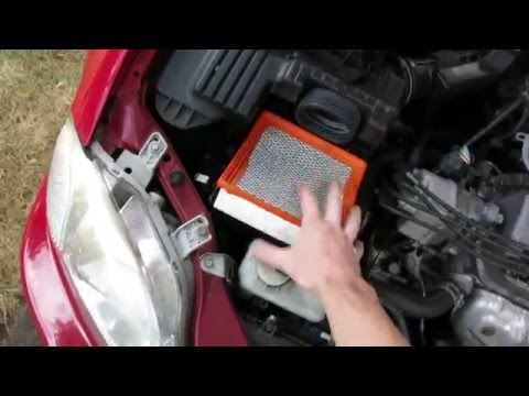 HOW TO CHANGE OR REPLACE AIR FILTER HONDA CIVIC 1998