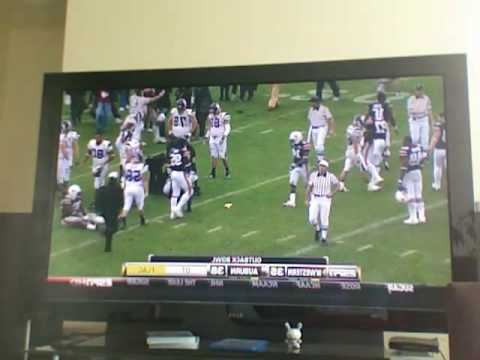 NorthWestern Auburn Outback Bowl 2010 Roughing the Kicker Roughing the Referee