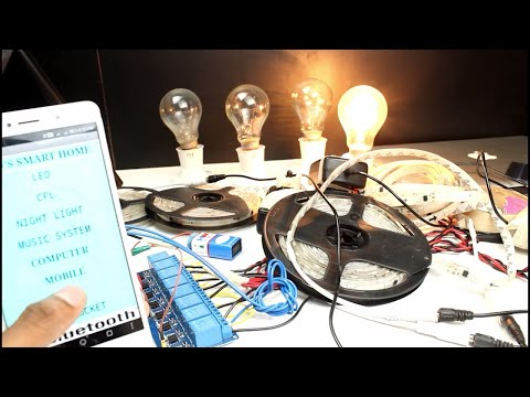 How to make android smartphone control fan,light using arduino tutorial