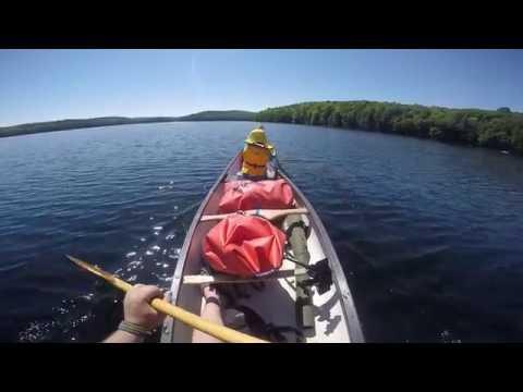 Canoe-camping overnight