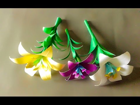 How To Make a Paper Flower Easy|Easy Origami Heart|Easy Tissue Paper Flowers -