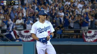 ARI@LAD Gm2: Barnes drills a two-run double