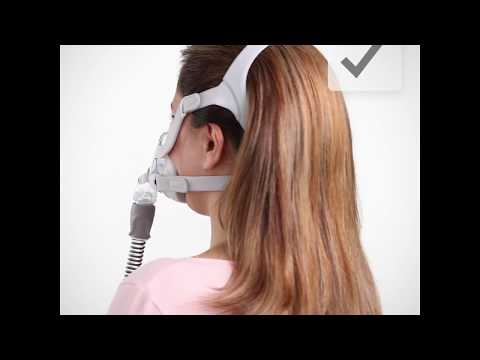AirTouch F20 CPAP Mask Video User Guide - Hair Management Tips