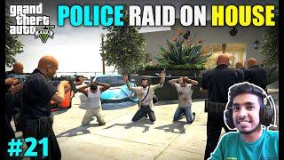 POLICE RAID ON MICHAEL'S NEW HOUSE   GTA V GAMEPLAY #21