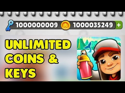 Subway surfers  unlimited coins + key for android and pc