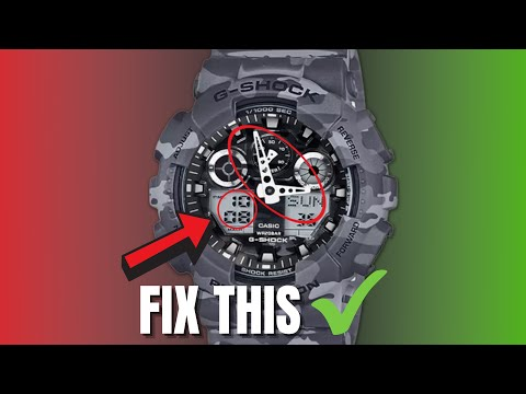 How To Set GShock Hands (Analog)