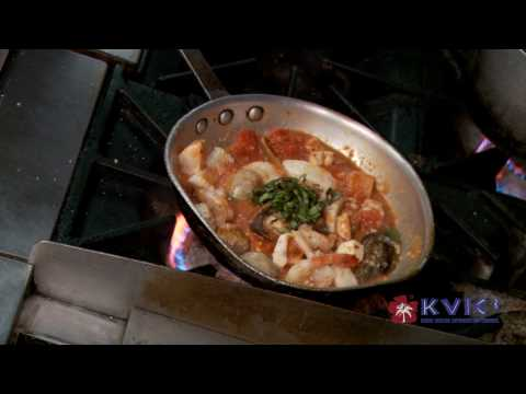 Seafood Pasta with Marinara Demo - Kalypso in Hanalei - KVIC-TV, myKauai.com [Chef Demo]
