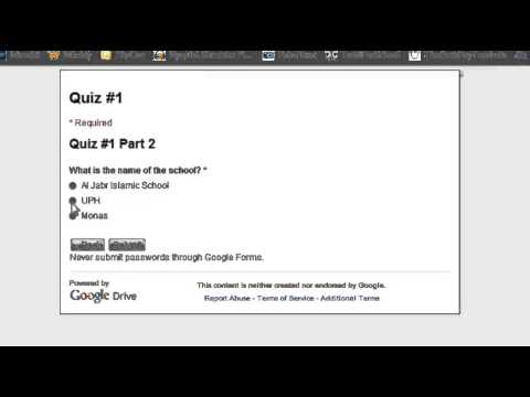Using Google Forms to make a multiple-choice quiz