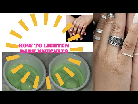 HOW TO LIGHTEN  DARK KNUCKLES FAST WITH THIS SIMPLE DIY