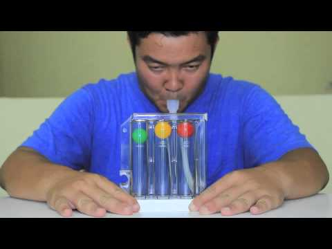 Incentive Spirometer:  Promotes relaxation and cleans the lungs
