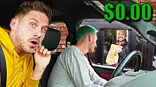 Going To Every Drive Thru Until We Get FREE Food!