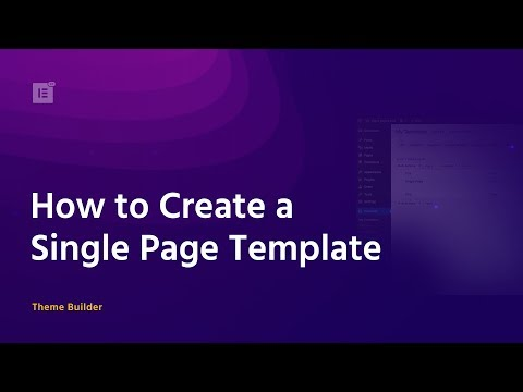 How to Create a Single Page Template