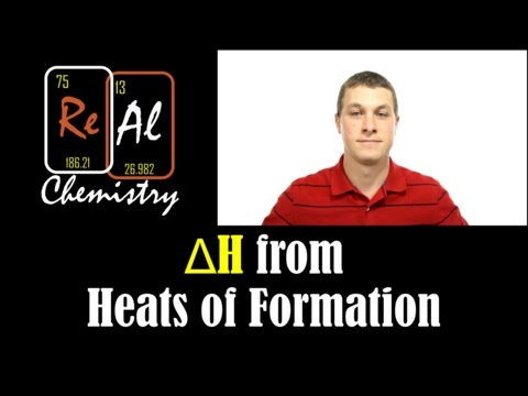 How to calculate delta H with heats of formation - Real Chemistry