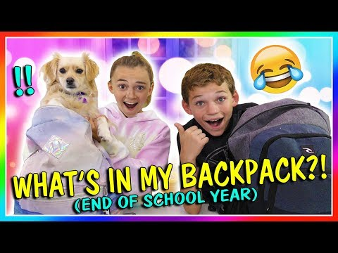 WHAT'S IN MY BACKPACK? - END OF SCHOOL | We Are The Davises