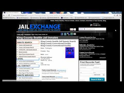 King County Jail Inmate Search - Seattle's Lockup Info
