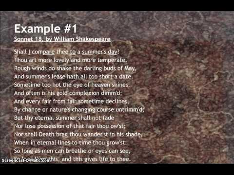 Examples of Iambic Pentameter in Poetry