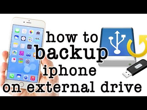 how to take backup of iphone on external drive | latest video in description