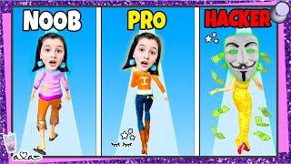 Noob vs. Pro vs. Hacker in RICH RUN 3D 💸💰 Wie REICH kann Ava werden?! 💸💜 Alles Ava Gaming
