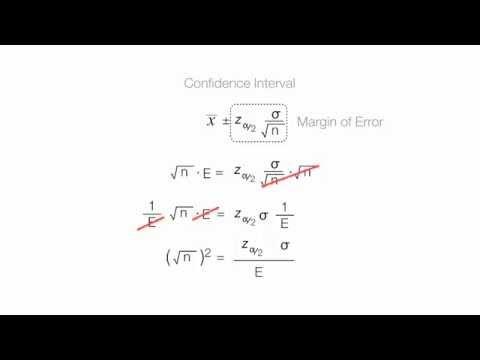 Derive Sample Size Equation