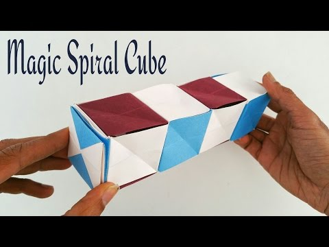 Magic spiral cube - DIY Modular Origami Tutorial by Paper Folds ❤️