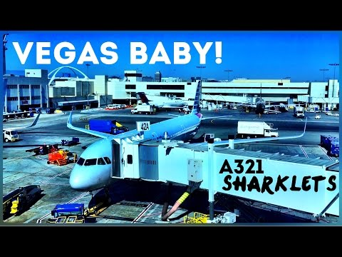 Vegas! First Class, American Airlines, A321 Sharklets.