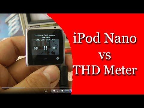 iPod Nano vs Panasonic Distortion Meter