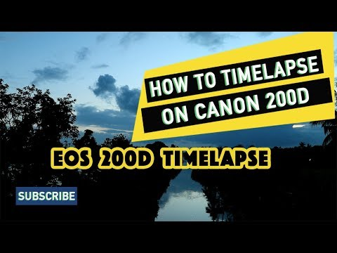 Canon 200D Tutorial - How to make a Timelapse Video