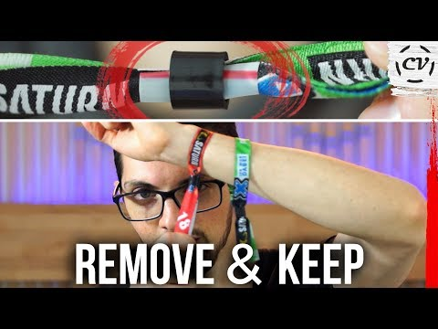 How To Safely Remove A Festival Wristband (2018)