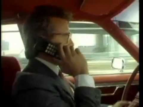 1980s  mobile phone Tv Ad