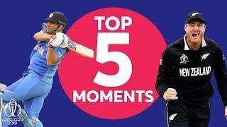 Guptill? Neesham? | India v New Zealand - Top 5 Moments | ICC Cricket World Cup 2019