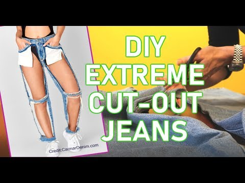 DIY Extreme Cut Out Jeans $168 vs $9.98